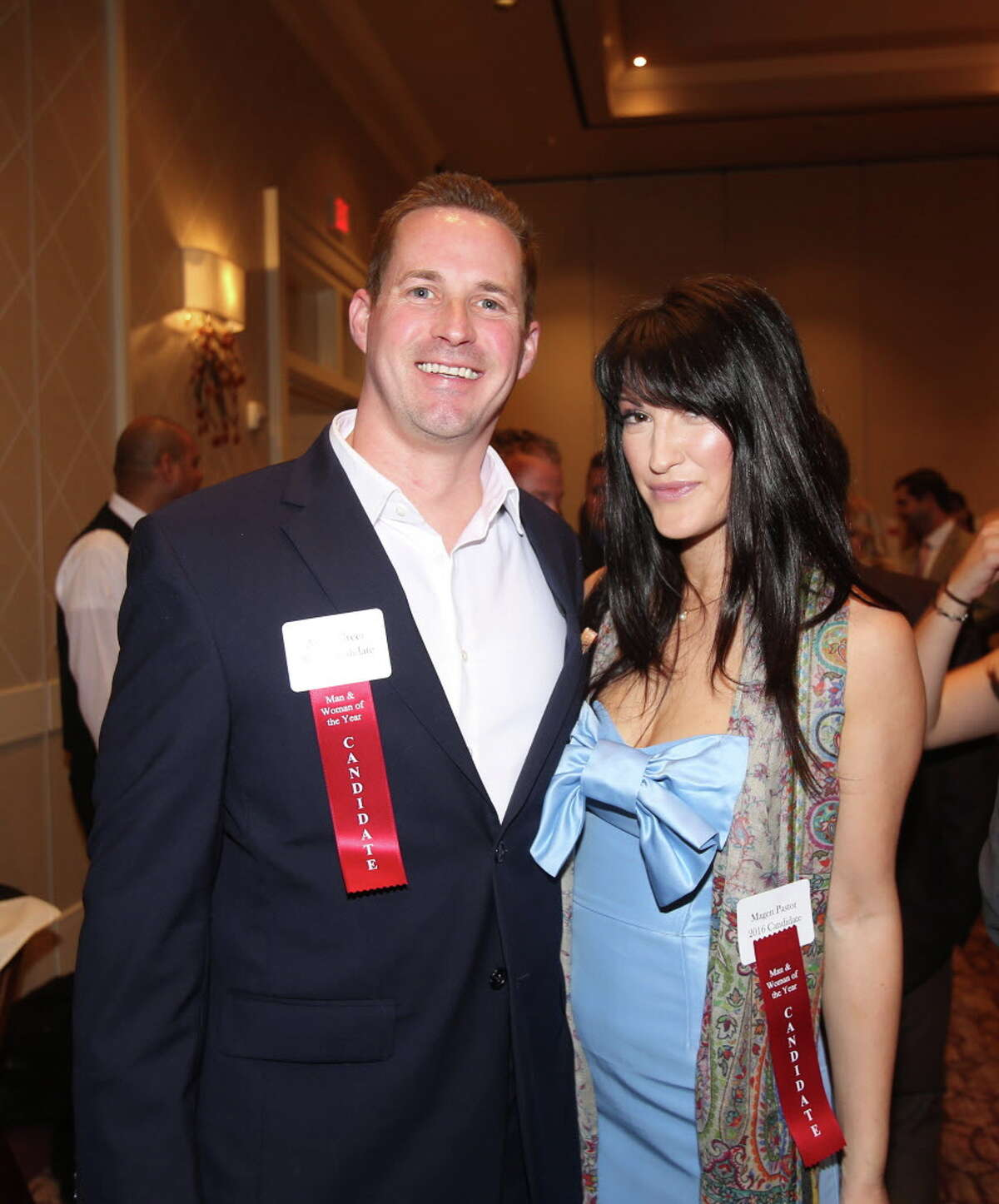 Adam Greer and Magen Pastor at the LLS Man & Woman of the Year kickoff celebration .