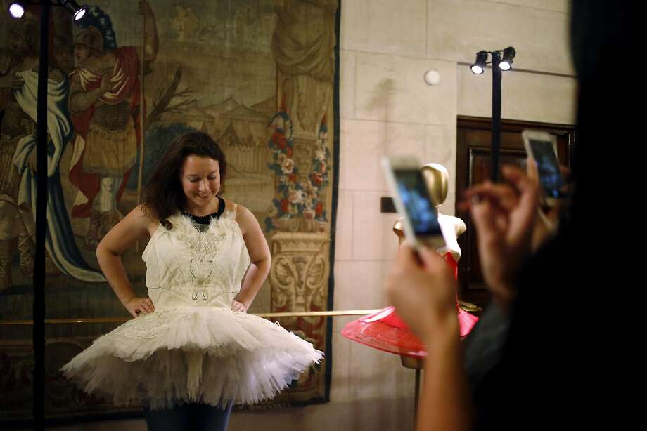 Svetlana Istrati poses in a tutu during Sensorium at the War Memorial Opera House in San Francisco, California, on Wednesday, March 23, 2016. Photo: Connor Radnovich, The Chronicle