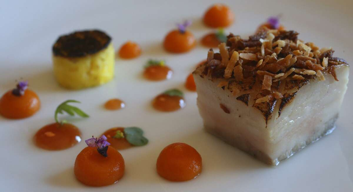 Food from a recent tasting menu at Mixtli: The Yucatán with pork belly.