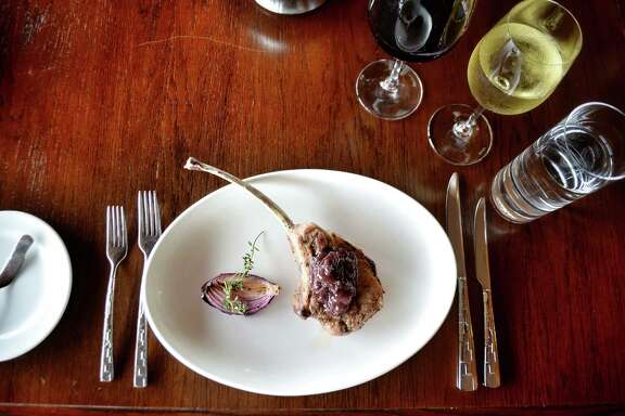 Niman Ranch heritage tomahawk pork chop