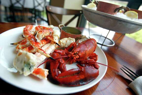 Maine lobster and King crab legs