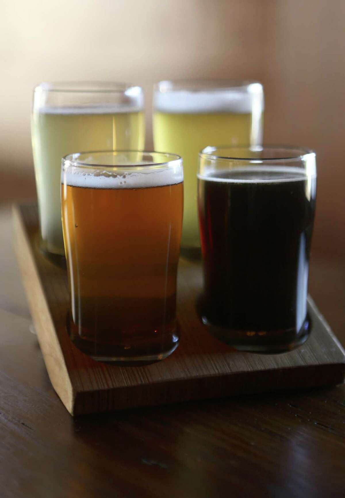 Beer flight at The Granary 'Cue & Brew at The Pearl