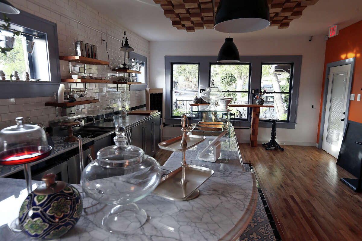 The interior of CommonWealth Coffeehouse & Bakery features lots of natural light.