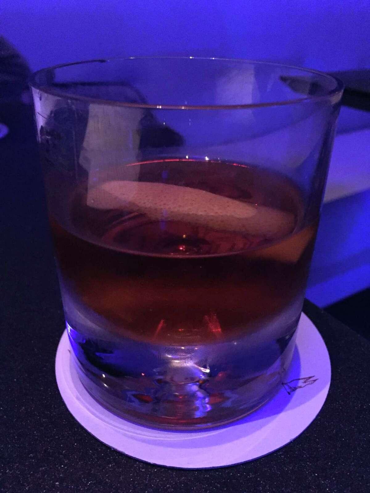 Greed: Garrison Brothers bourbon, amaretto liqueur, Bénédictine, bitters