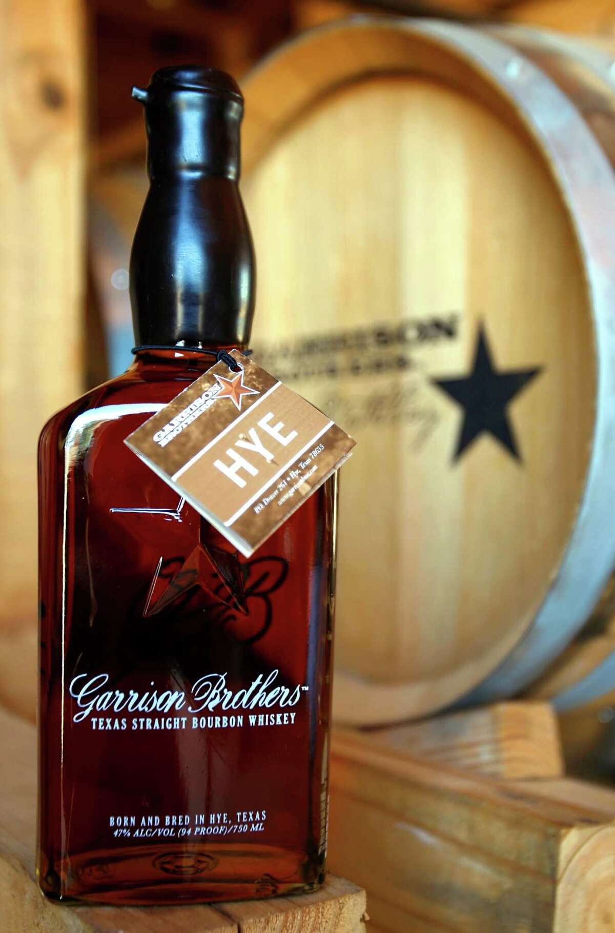A bottle of Garrison Brothers bourbon