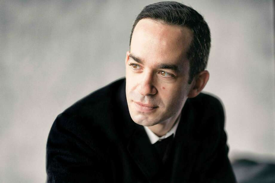 Pianist Inon Barnatan was the solo artist on Aaron Copland's Piano Concerto of 1926, giving a tireless, invigorating workout to the jazzy piece. Copland works led off the concert, followed by Schumann's Second. Photo: SF Symphony