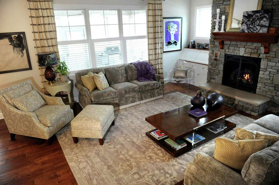 The living room on Wednesday, Feb. 17, 2016, at the home of Denise Palumbo in Saratoga Springs, N.Y. (Cindy Schultz / Times Union)