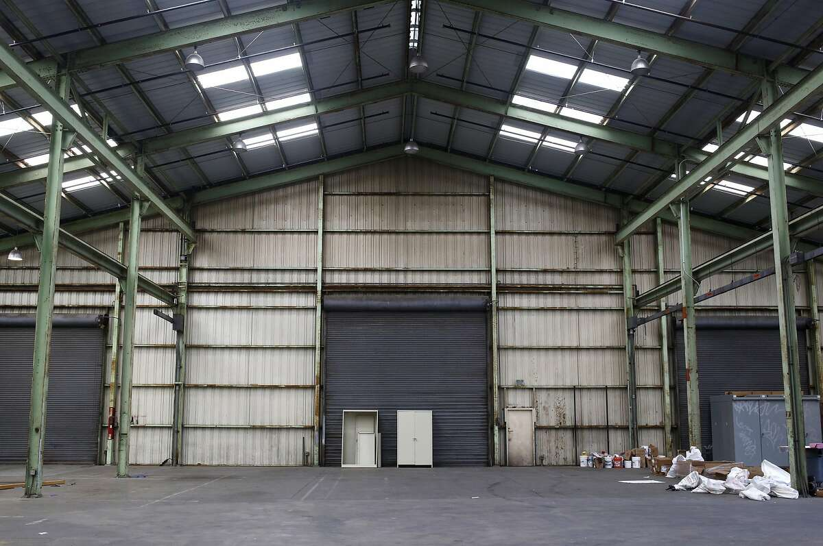 The large warehouse that will host Claudia Altman-Siegel's new gallery in the Dogpatch neighborhood of San Francisco, California, on Wednesday, March 23, 2016.