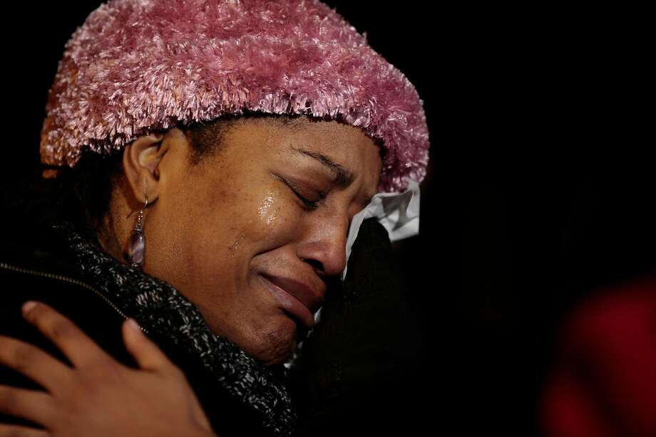 Oakland City Council President Lynette Gibson McElhaney mourns the slain youth, whom she considered her grandson. Photo: Nathaniel Y. Downes, Special To The Chronicle