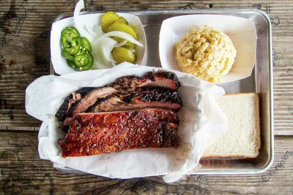 Ribs and brisket at CorkScrew BBQ in Spring