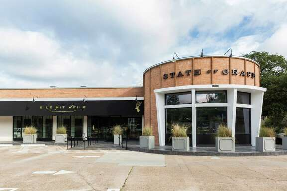 Exterior of State of Grace, the new Ford Fry restaurant that opened at 3256 Westheimer in River Oaks.