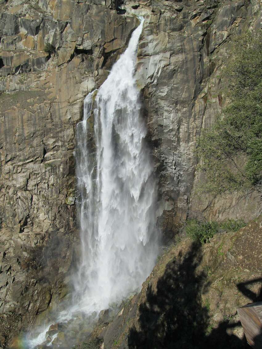 From the viewing deck, full frontal of 410-foot Feather Falls.