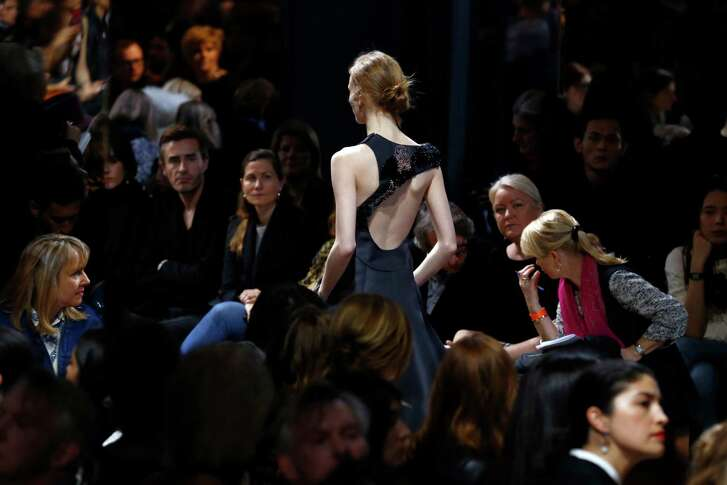 A model wears a creation as part of Christian Dior's Spring- Summer 2016 Haute Couture fashion collection presented in Paris, Monday, Jan. 25, 2016. (AP Photo/Francois Mori)