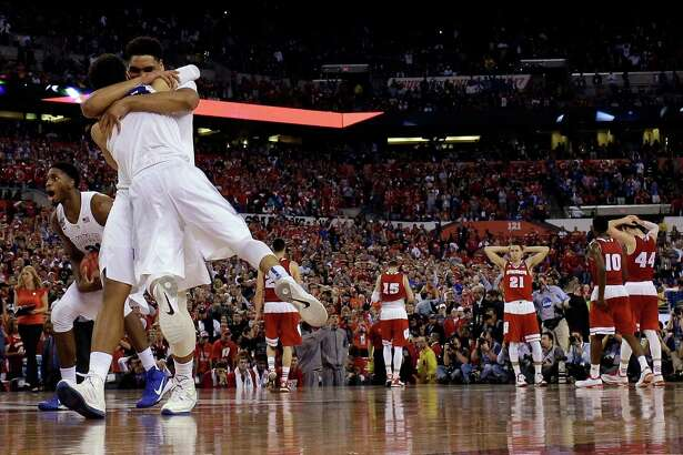 Duke players celebrate after the 2015 NCAA championship game against Wisconsin in Indianapolis.