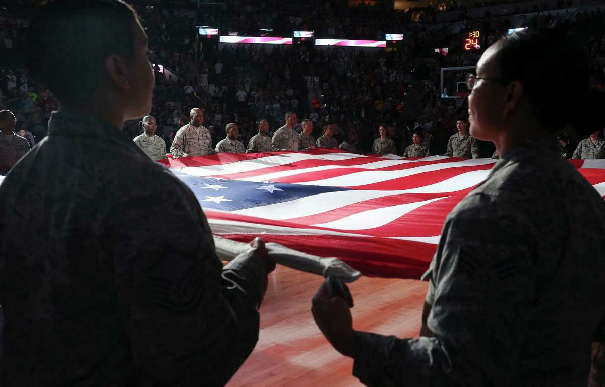 Nov. 10: Spurs Salute Night presented by USAA The Spurs will pay tribute to servicemembers, veterans and their families on Nov. 10, when the team plays the Houston Rockets, in honor of Veterans Day