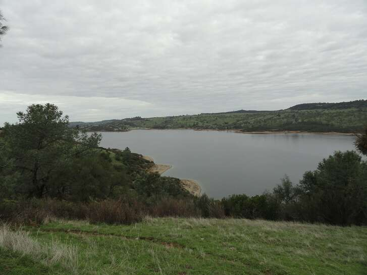 From the observation point at Pardee Lake in the foothills east of Stockton, this is the view looking north. Pardee Lake is one of five lakes fed by the Mokelumne River that are more than 100 percent of normal for the date.