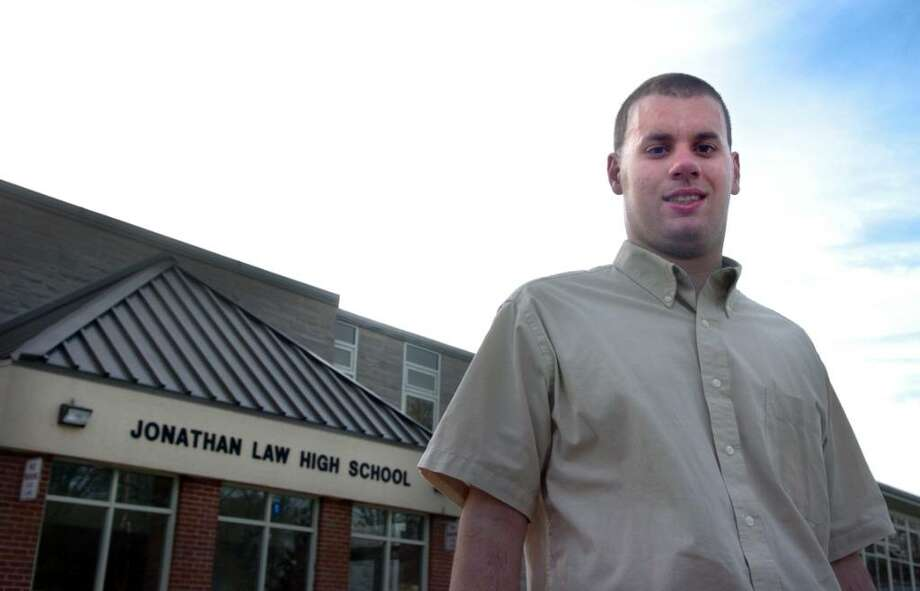 Twenty-year-old Kyle Selvaggi has been denied the right to attend Jonathan Law High School for the past several years despite a law requiring special education to be provided. Photo: Autumn Driscoll / Connecticut Post