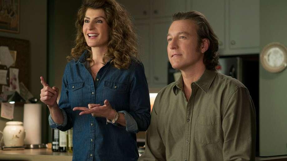 "Nia Vardalos and John Corbett reprise their roles as Toula and Ian in ""My Big Fat Greek Wedding 2."""