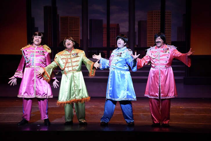 """Left to right: Allen Karger, Dan Bawden, David Olener and Patrick Stayton channeled the Beatles in last year's """"Night Court"""" production, """"LawyerMania."""""""