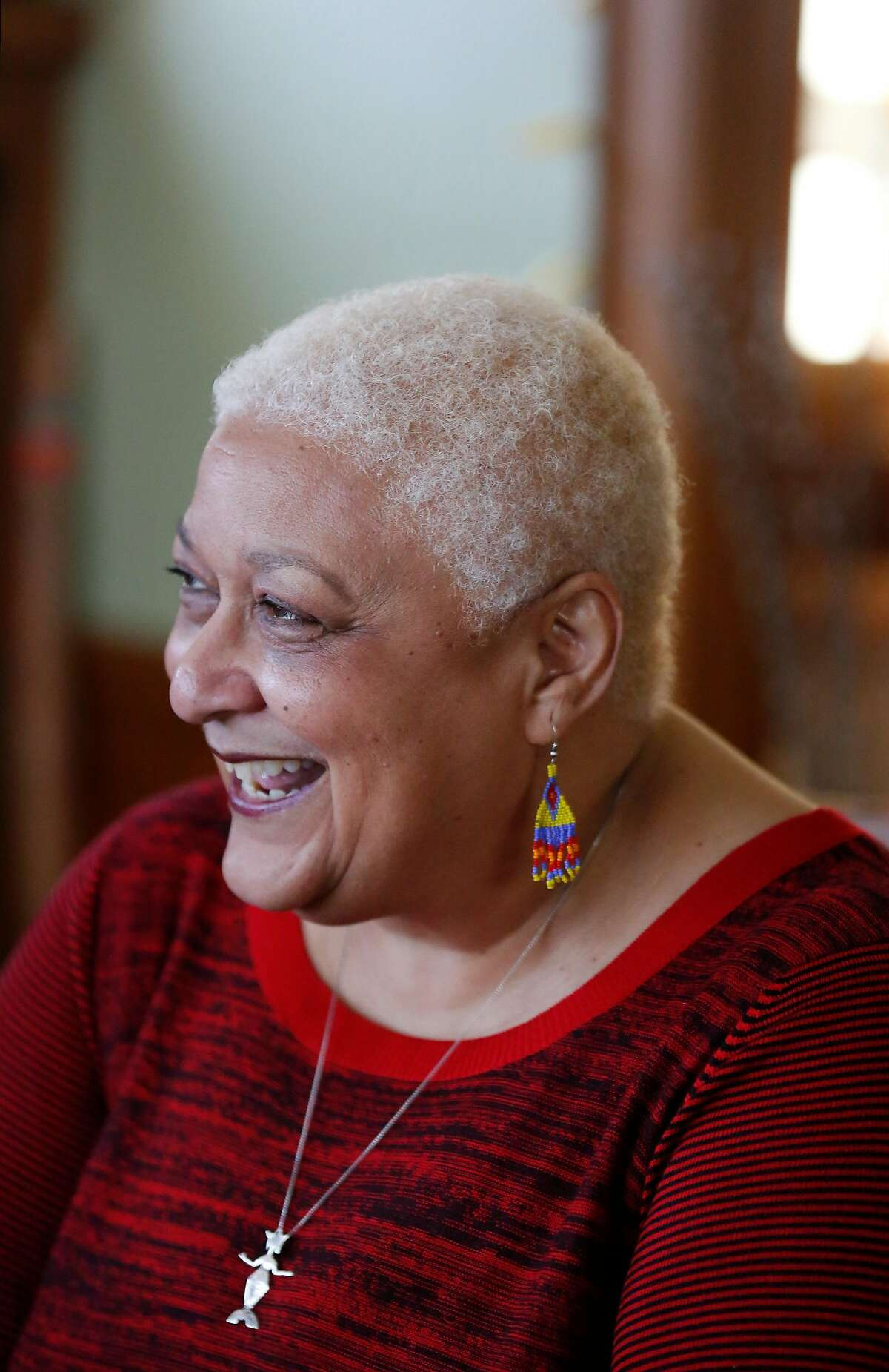 Jewelle Gomez, the author of The Gilda Stories, pictured in her home March 24, 2016 in San Francisco, Calif.