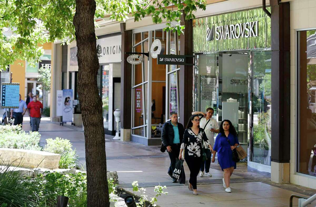 Most of the shops are closed but The Shops at La Cantera is still a pleasant place to walk.