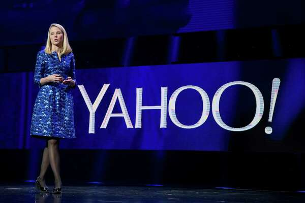 FILE - In this Jan. 7, 2014, file photo, Yahoo president and CEO Marissa Mayer speaks during the International Consumer Electronics Show in Las Vegas. Yahoo's stock is up Thursday, March 24, 2016, before the opening bell on a report that an activist shareholder will launch a campaign to replace its board. (AP Photo/Julie Jacobson, File)