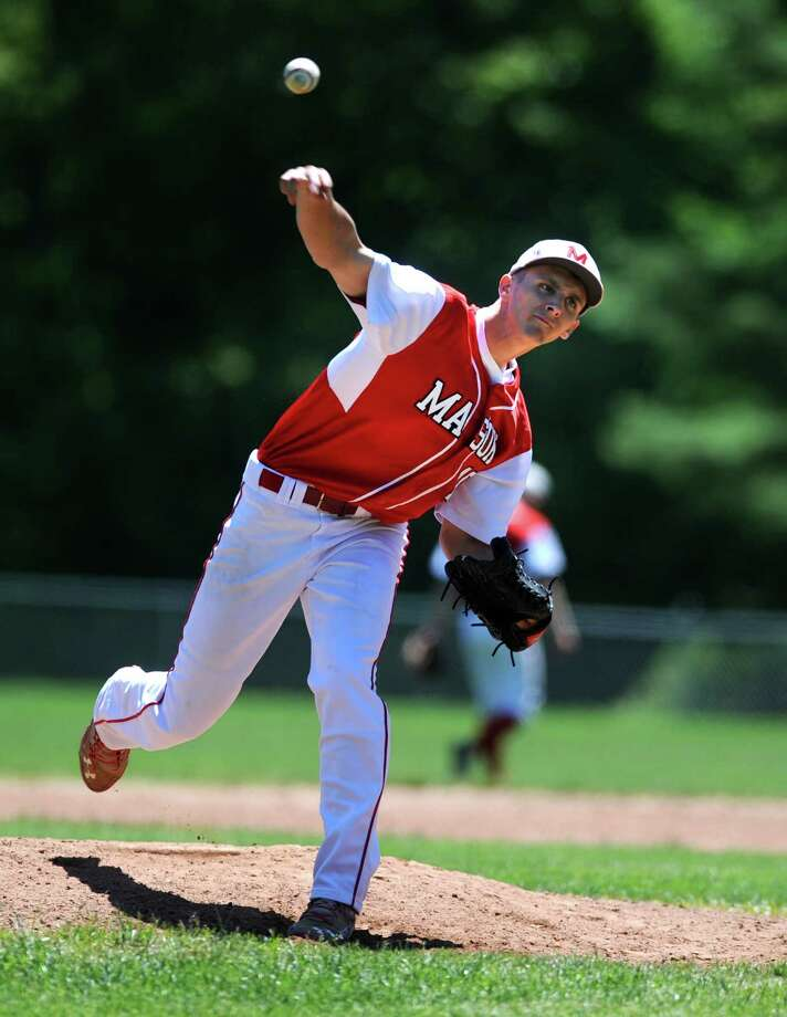 Masuk will rely on pitcher Cam Kovachik as it looks to defend its SWC title this season. Photo: Autumn Driscoll / For Hearst Connecticut Media / Connecticut Post