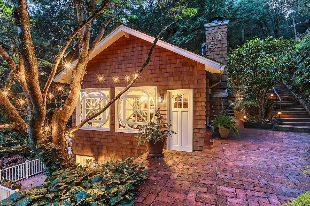 The Mill Valley listing includes both a guest cabin and detached studio.