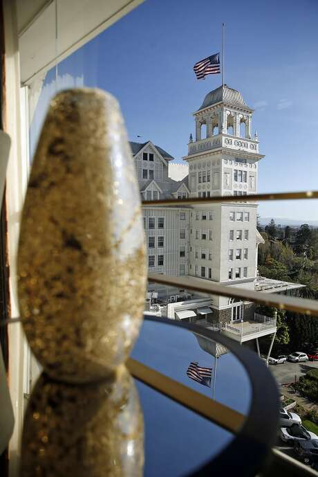 The Presidential Suite's view of the rest of the hotel, which has been a beloved site in the East Bay hills for decades. Photo: Scott Strazzante, The Chronicle