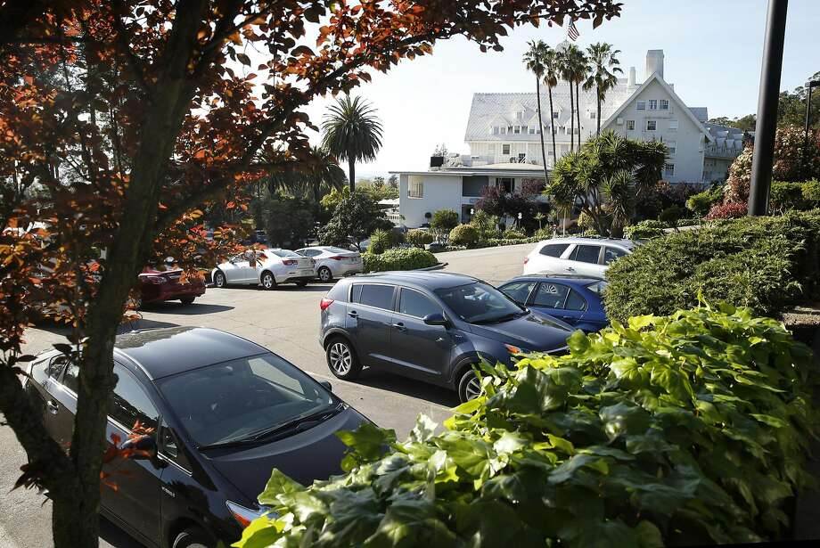 The terraced parking lot at the Claremont Hotel where 45 condos are proposed to be built in Berkeley, Calif., on Thursday, March 24, 2016. Photo: Scott Strazzante, The Chronicle