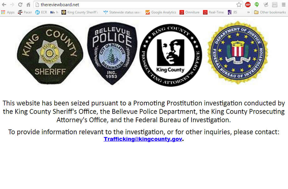 TheReviewBoard.net, as it appears today. Law enforcement seized the Washington-based prostitution fan site in January, closing it and arresting more than a dozen people alleged to be associated with it.