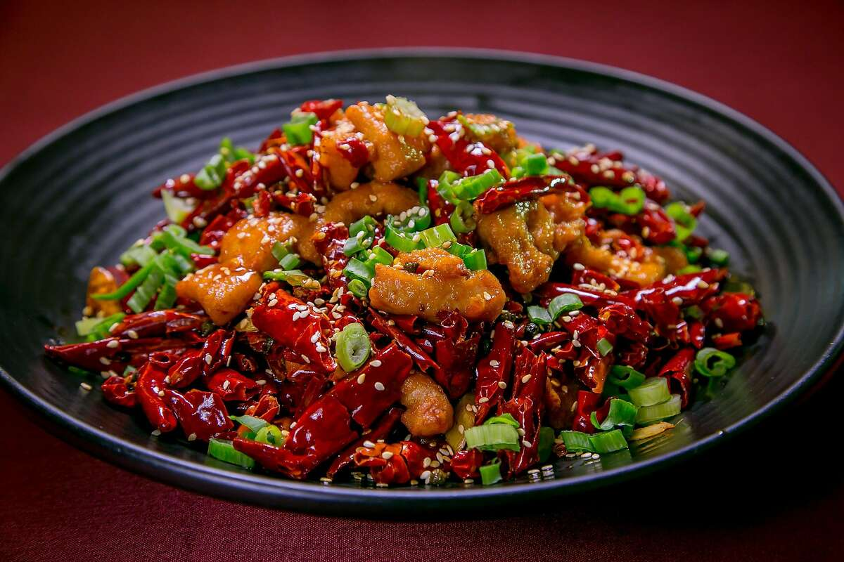 The Chicken with Explosive Chile Peppers at Z and Y Restaurant in San Francisco, Calif., is seen on March 24th, 2016.