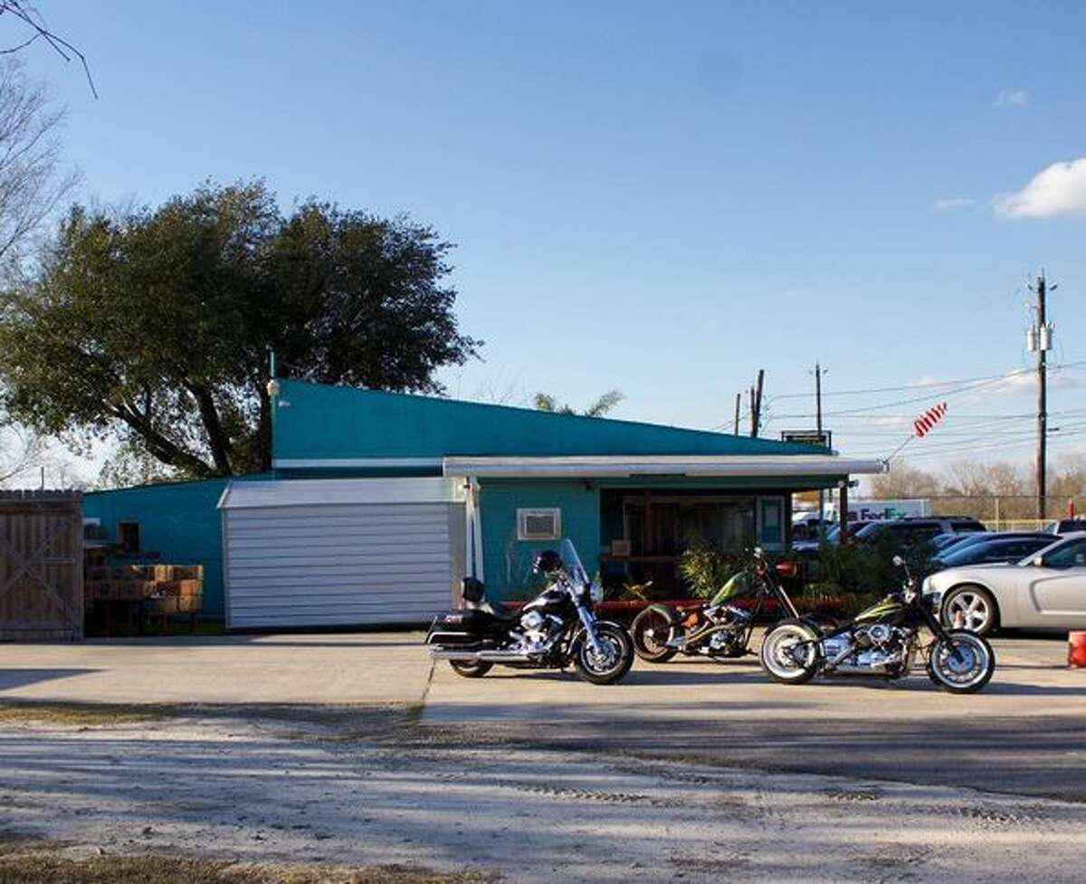 Bike parking at The Playground, 9130 Old Galveston Road.