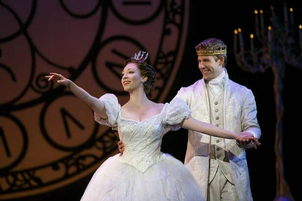 """Kaitlyn Davidson and Andy Huntington play Cinderella and her prince in the touring production of """"Cinderella"""" headed to the Majestic Theatre."""
