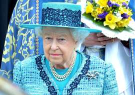 WINDSOR, ENGLAND - MARCH 24:  Queen Elizabeth II attends the traditional Royal Maundy Service at Windsor Castle on March 24, 2016 in Windsor, England.  (Photo by Anthony Harvey/Getty Images)