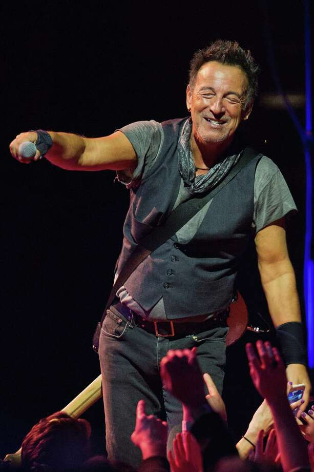 "Bruce Springsteen performs in Seattle last March.  In promoting his autobiography Born to Run, Springsteen runs on about Donald Trump, saying:  ""The republic is under siege by a moron, basically."" Photo: Mat Hayward, Getty / 2016 Mat Hayward"