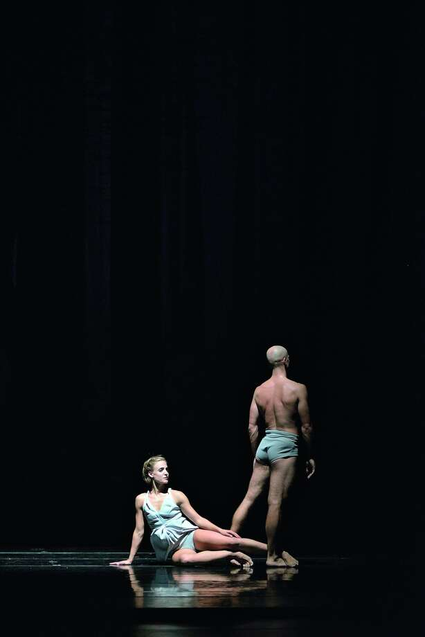 "Virginia Hendricksen and Yevgeniy Kolesnyk of Royal Ballet of Flanders in Sidi Larbi Cherkaoui's mesmerizing ""Faun."""