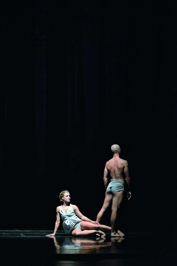 "Virginia Hendricksen and Yevgeniy Kolesnyk of Royal Ballet of Flanders in Sidi Larbi Cherkaoui's mesmerizing ""Faun."""