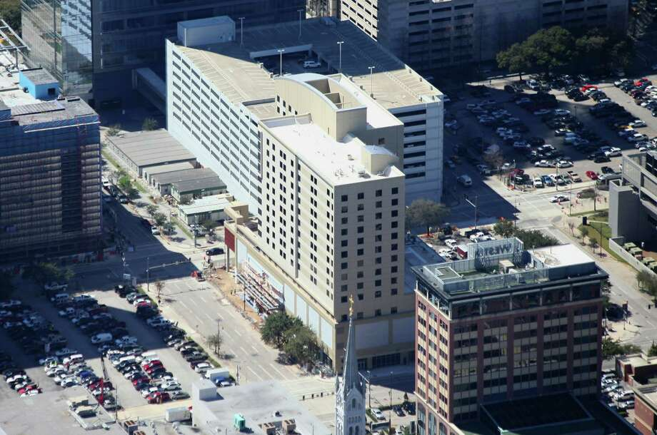 American Liberty Hospitality's new hotel downtown is a mix of 173 Hampton Inn rooms and 127 suites under the Homewood Suites brand. The project is set to open Thursday.