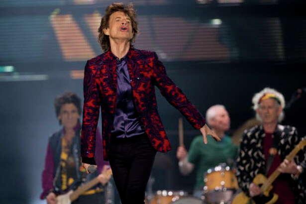 Mick Jagger en concierto con los Rolling Stones en el Foro Sol de México City, México, el 14 de marzo, como parte del Ole Tour.