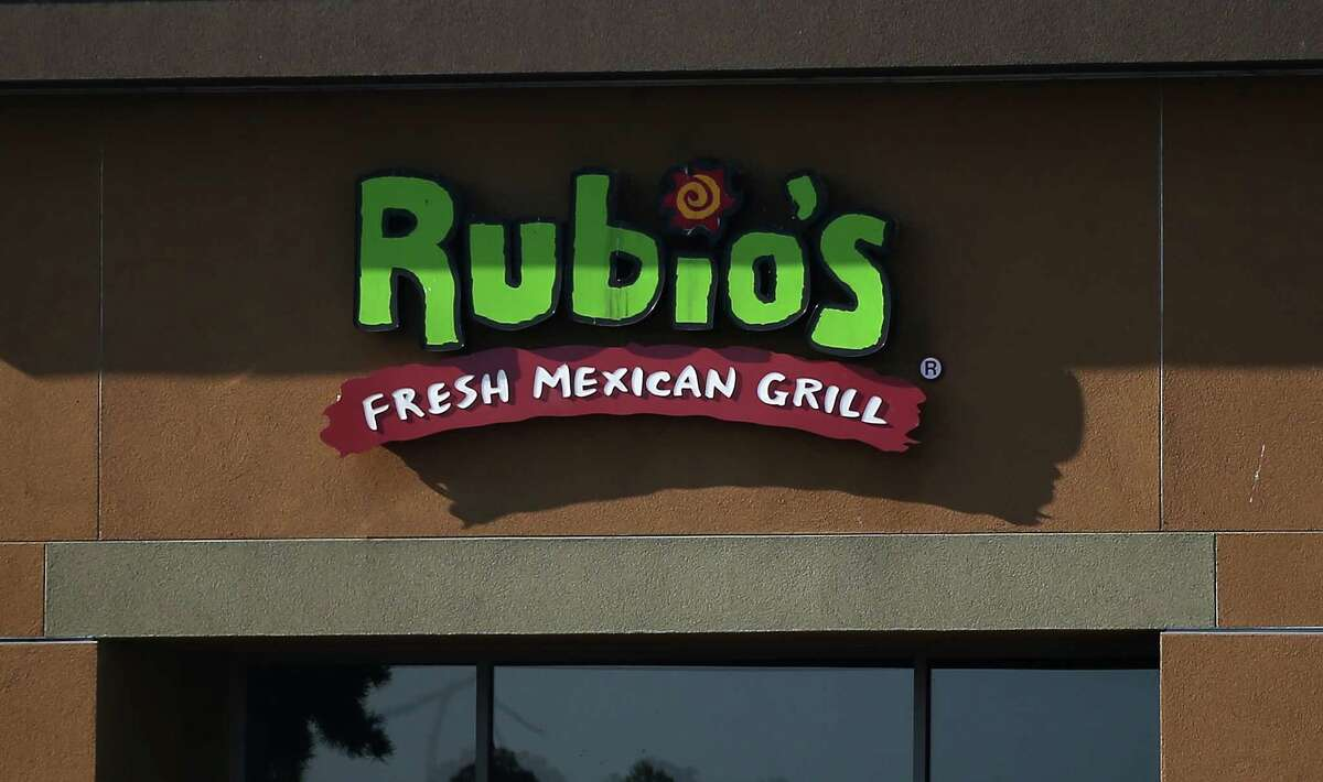 A sign is posted on the exterior of a Rubio's Mexican restaurant on Jan. 6, 2015, in Daly City.