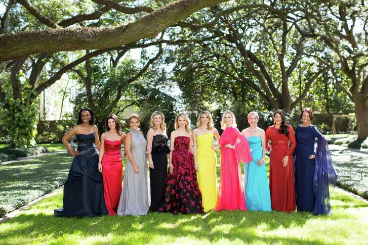 Houston Chronicle's 2016 Best Dressed honorees: Winell Herron, Laura Davenport, Mary Tere Perusquia, Milette Sherman, Susan Sarofim, Stephanie Cockrell, Isabel David, Rosemary Schatzman, Sippi Khurana and Gayla Gardner. Photo by Julie Soefer. Hair/makeup: Ceron