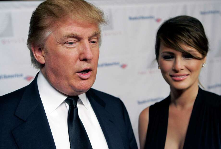 In this Oct. 10, 2006, file photo, Donald Trump and wife Melania attend the Second Annual Quill Awards at the American Museum of Natural History in New York. Photo: Stephen Chernin, STR / AP