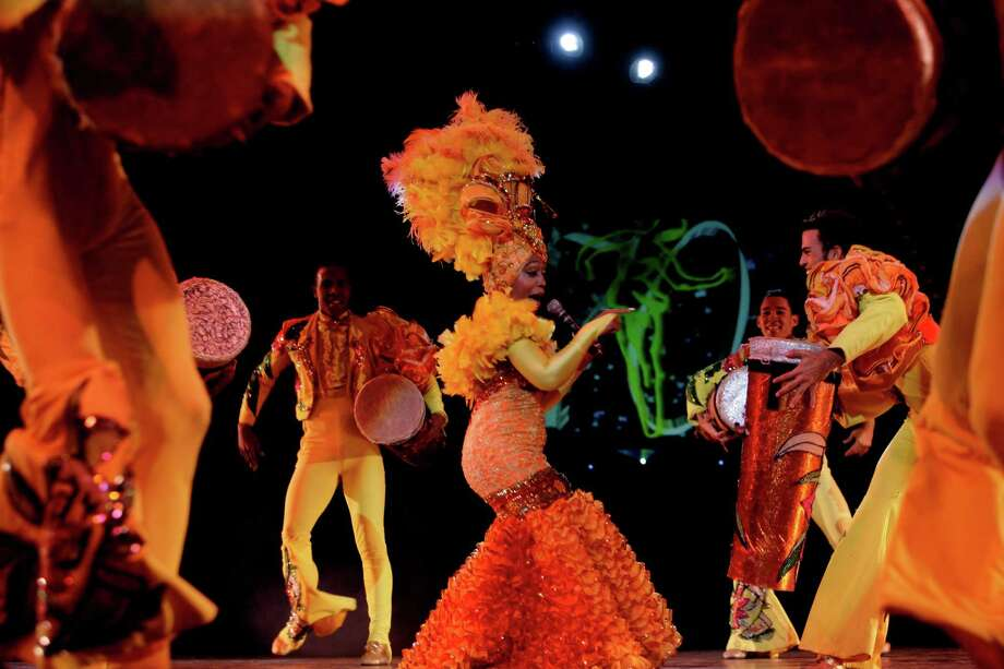 Cabaret dancers perform at the Tropicana nightclub. Photo: Franklin Reyes, STR / AP