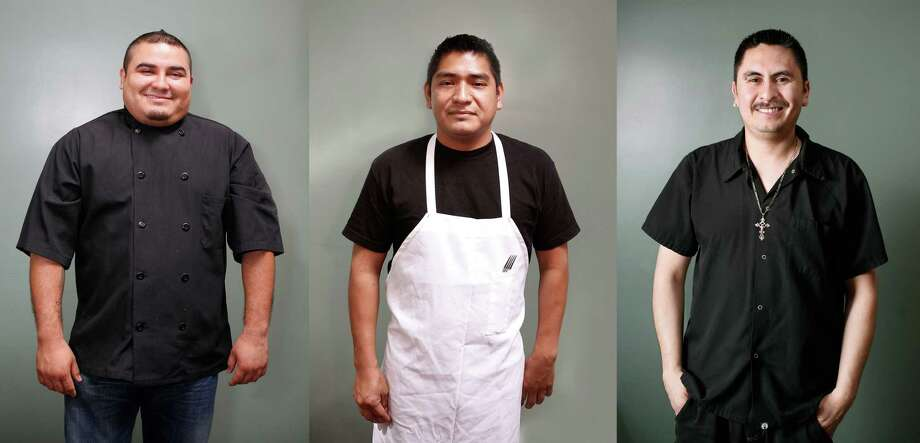 Tacolicious staff, from left to right: Line cook Francisco Navarrete (tenure: 4 years), line cook Genaro Hernandez (tenure: 3 months), kitchen supervisor Ernesto Leon (tenure: 4 years)