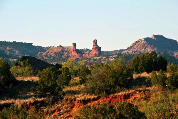Lighthouse Peak and un-named finn, Palo Duro Canyon, Canyon, Texas.