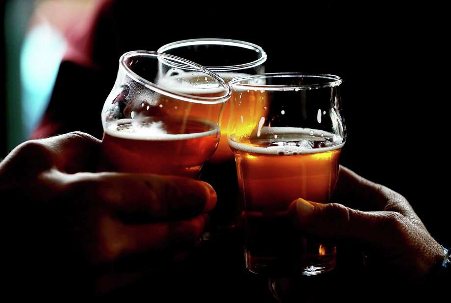 Scroll ahead to see some of the San Francisco, Oakland, and Alameda bars that may be pouring Pliny the Younger.Pictured: Russian River Brewing Company customers clink their glasses while drinking the newly released Pliny the Younger triple IPA beer on February 7, 2014 in Santa Rosa, California. Photo: Justin Sullivan, Staff / 2014 Getty Images