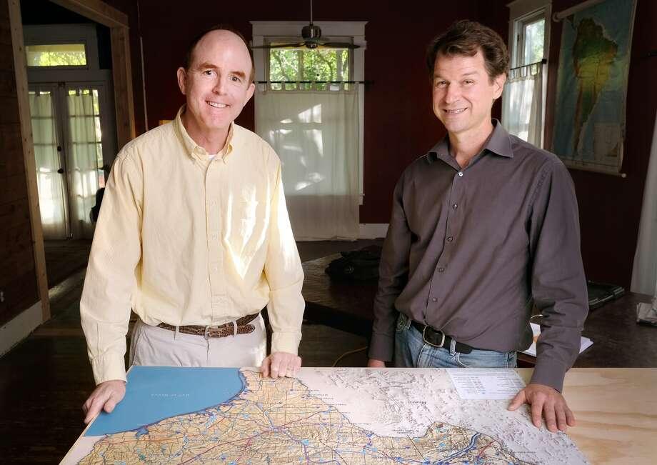 Jonathan Ogren and David Todd of the Texas Landscape Project. Photo: Jorge Sanhueza-Lyon