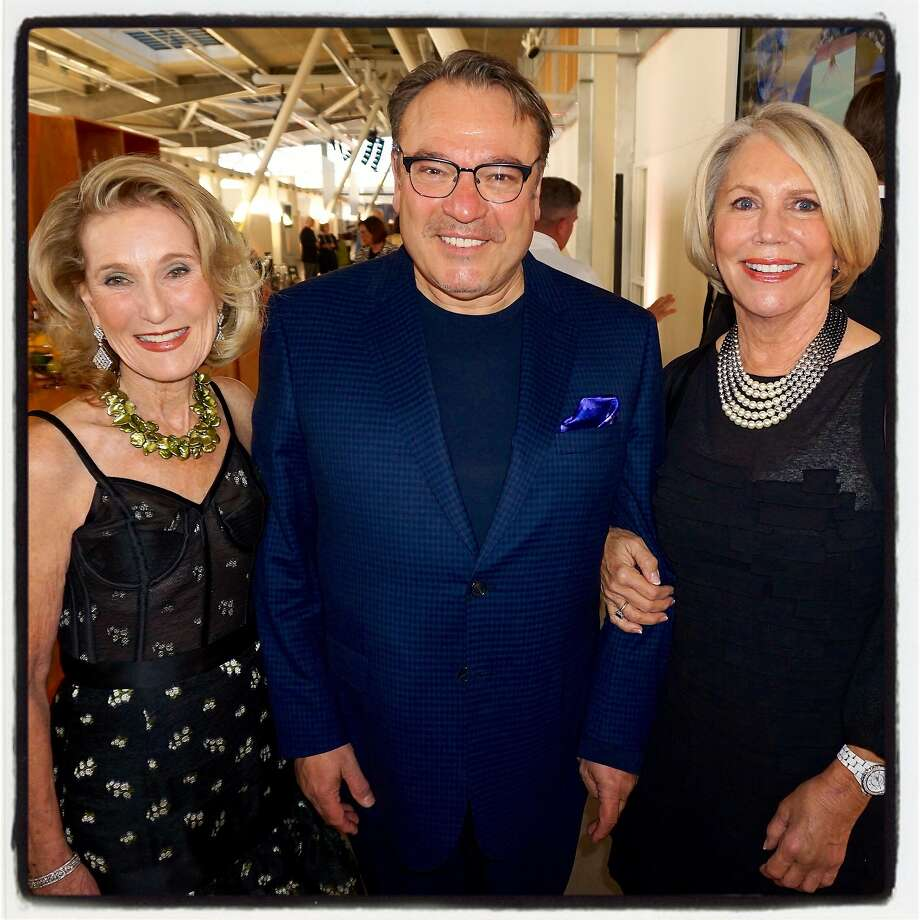 CCA Gala co-chair Lorna Meyer Calas (left) and co-chair Patricia Fitzpatrick flank honoree Stanlee Gatti at the fundraiser. Photo: Catherine Bigelow, Special To The Chronicle