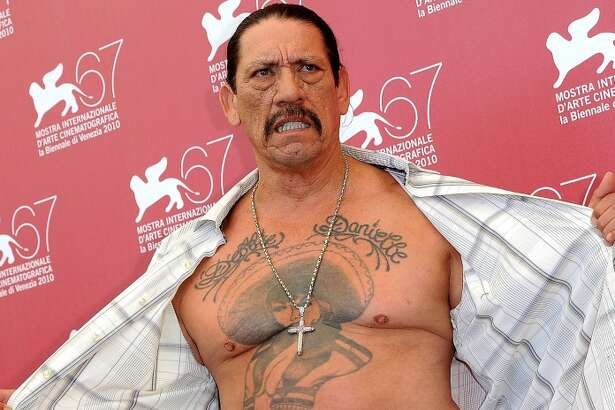 The charra   Actor Danny Trejo has a charra on his chest.